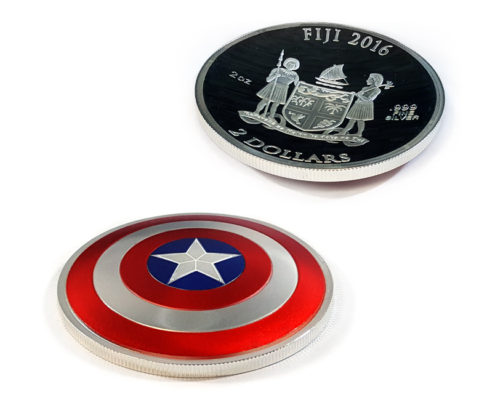 Captain America 2oz Domed Coin