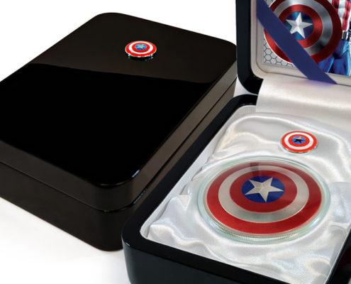 Captain America 75th Anniversary Black-lacquer Display Case