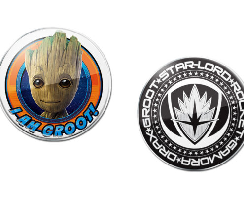 Groot and Team Lapel Pins